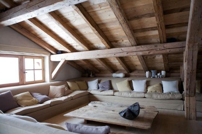 Сделайте зону отдыха наподобие альпийских шале