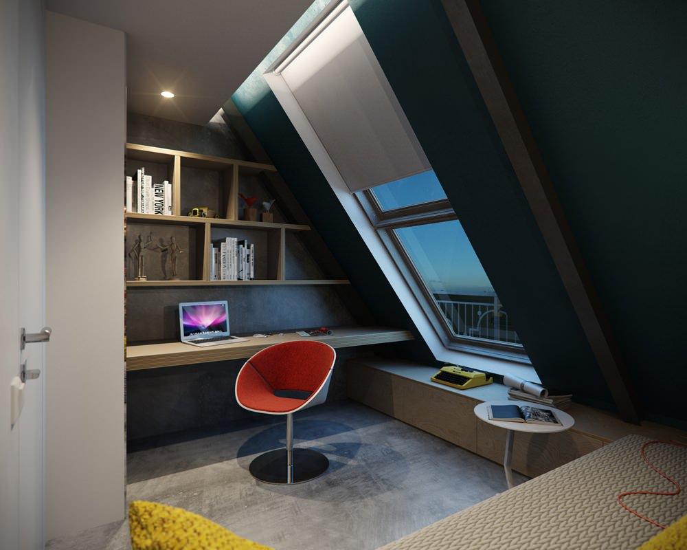 Мини-кабинет с шикарным видом из окна