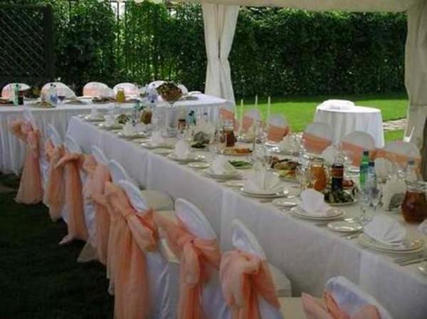 Простое украшение свадебного зала своими руками