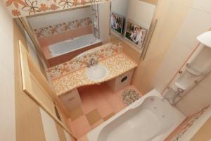 маленькая ванная комната фото интерьера, зеркало