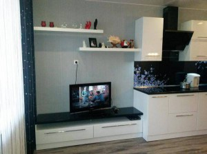 гостиная совмещённая с кухней
