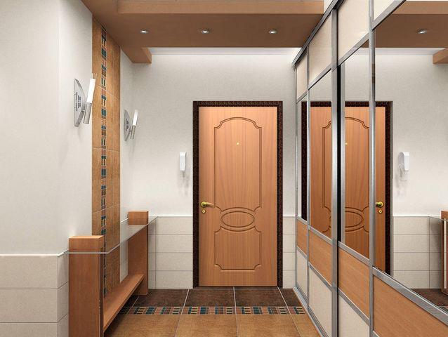 Шкаф в прихожей с зеркалами