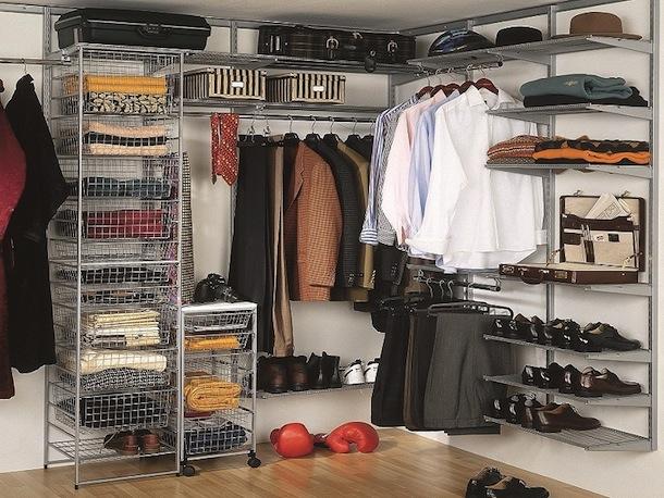 Корзины в гардеробной