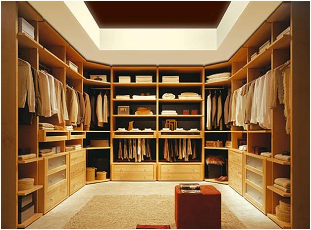 Зоны в гардеробной