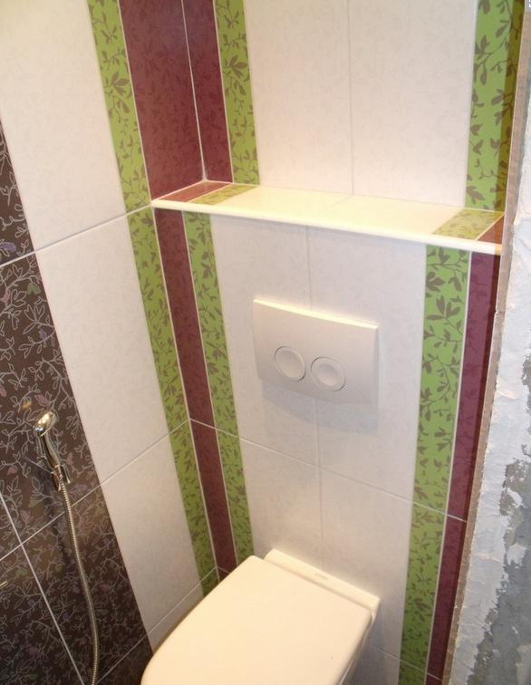 Эстетично смотрится короб для туалета