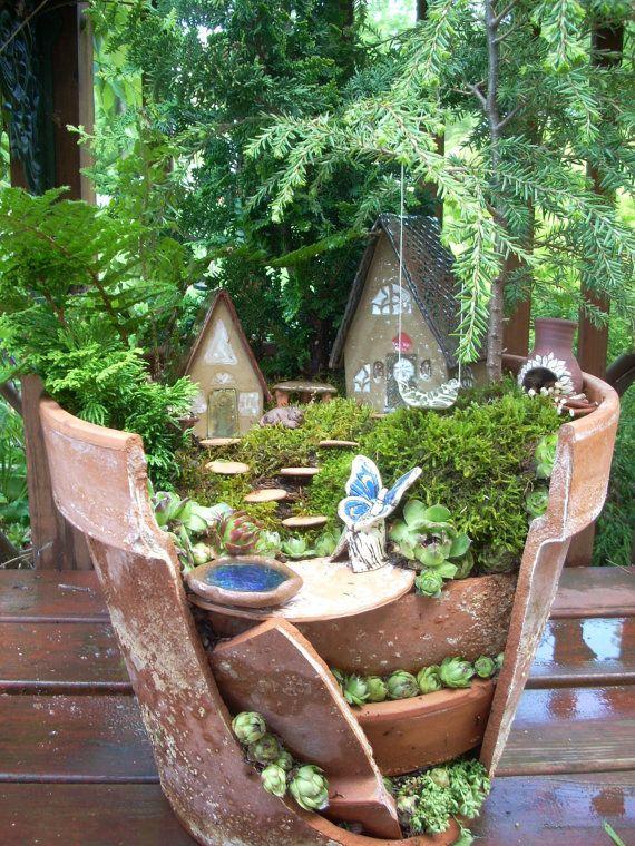 Маленький сад в горшке