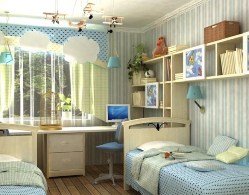 Дизайн комнаты 15 кв.м с кухней