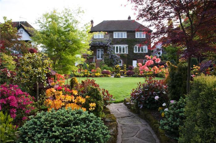 типичный английский сад