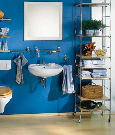 Оригинальности и практичности ванной добавят различные аксессуары