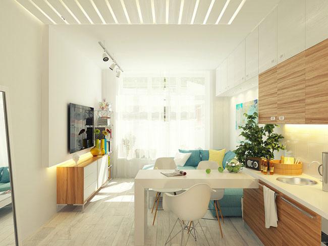 Интерьеры маленьких квартир студий