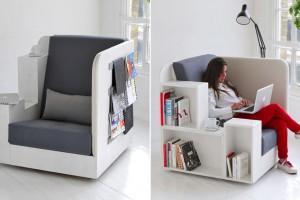 Уютное кресло-библиотека