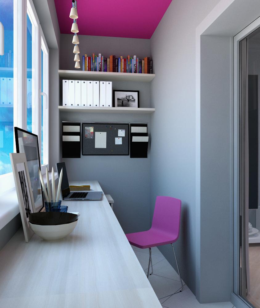 Стильный офис – приятная колористика, минималистическое оформление и все под рукой