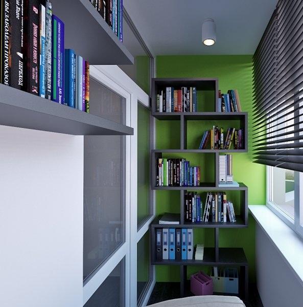 Мини-библиотека – все компактно и эргономично