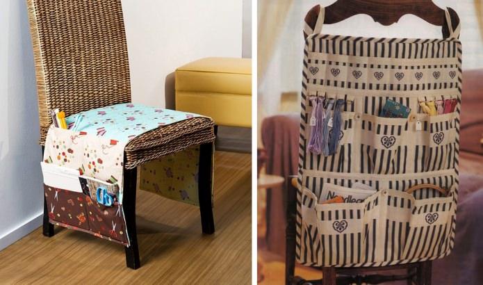 Навесные тканевые кармашки на креслах