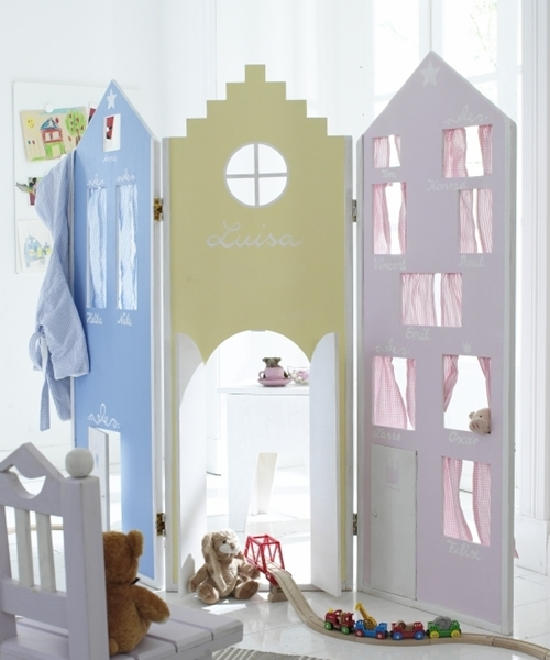 Ширма для детской в виде домиков