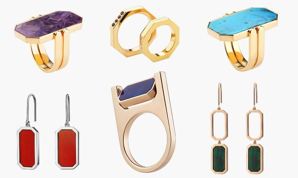 Модные серьги с натуральными камнями 2017
