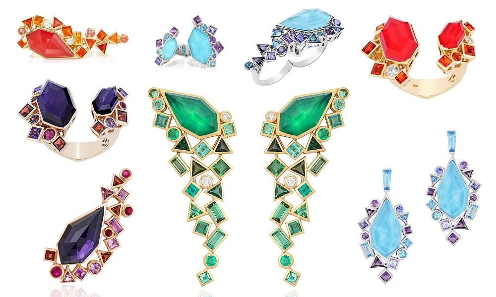 Модные кольца с натуральными камнями 2017
