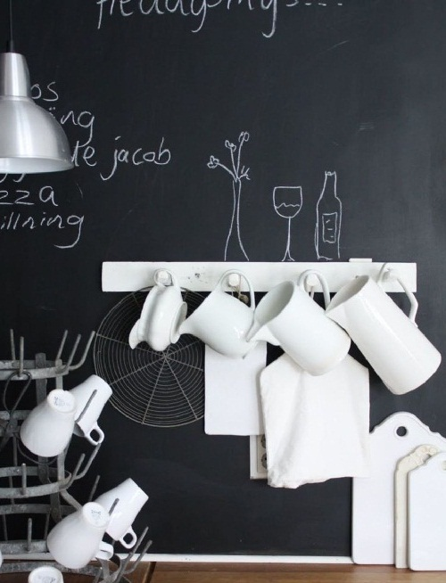 Кухонный фартук с меловым покрытием