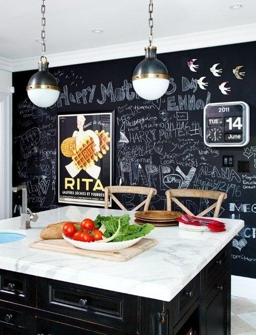 Грифельная стена на кухне