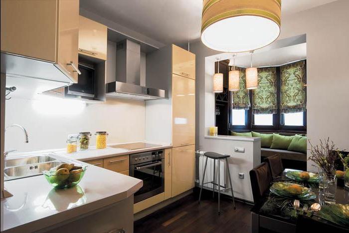 Идея дизайна балкона совмещенного с кухней фото