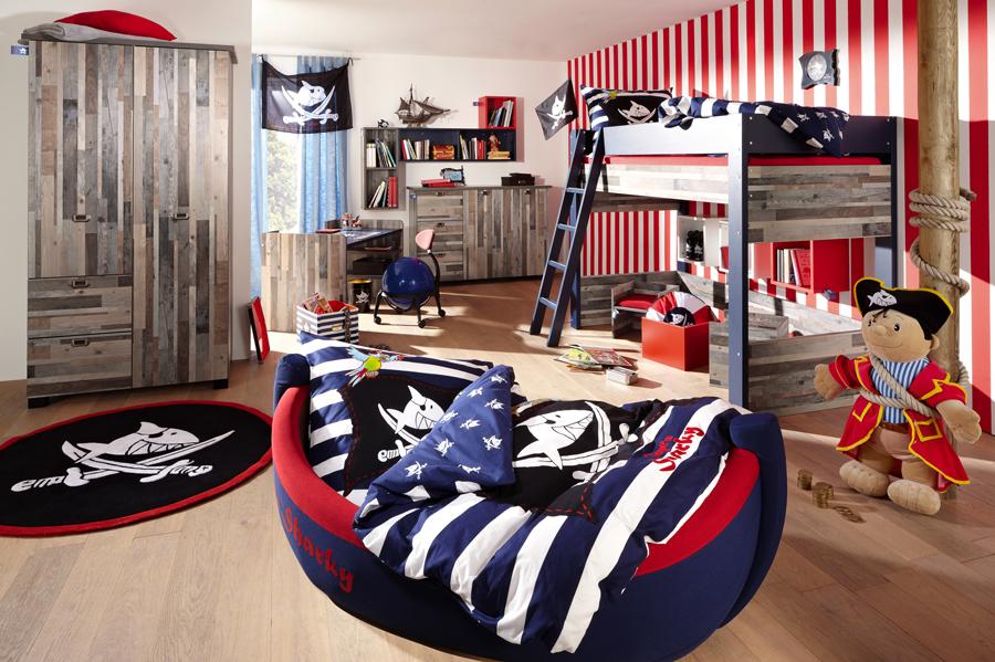 Пиратский дизайн для комнаты мальчика