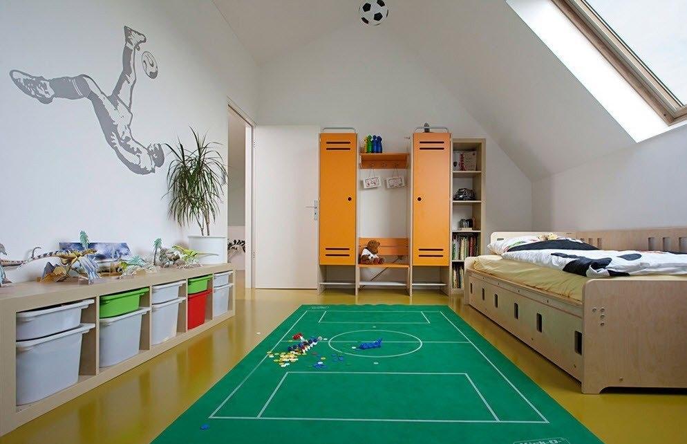 Комната для мальчика футболиста