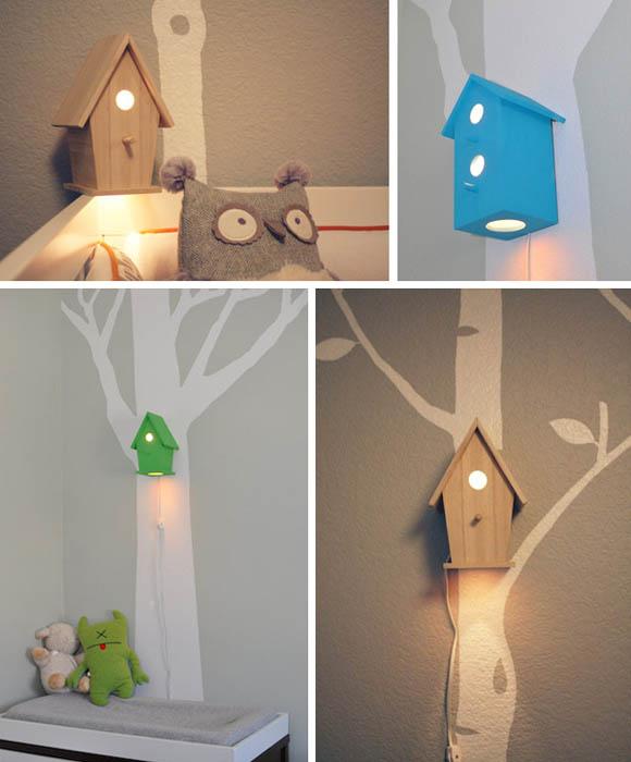 Лампы-скворечники в детской