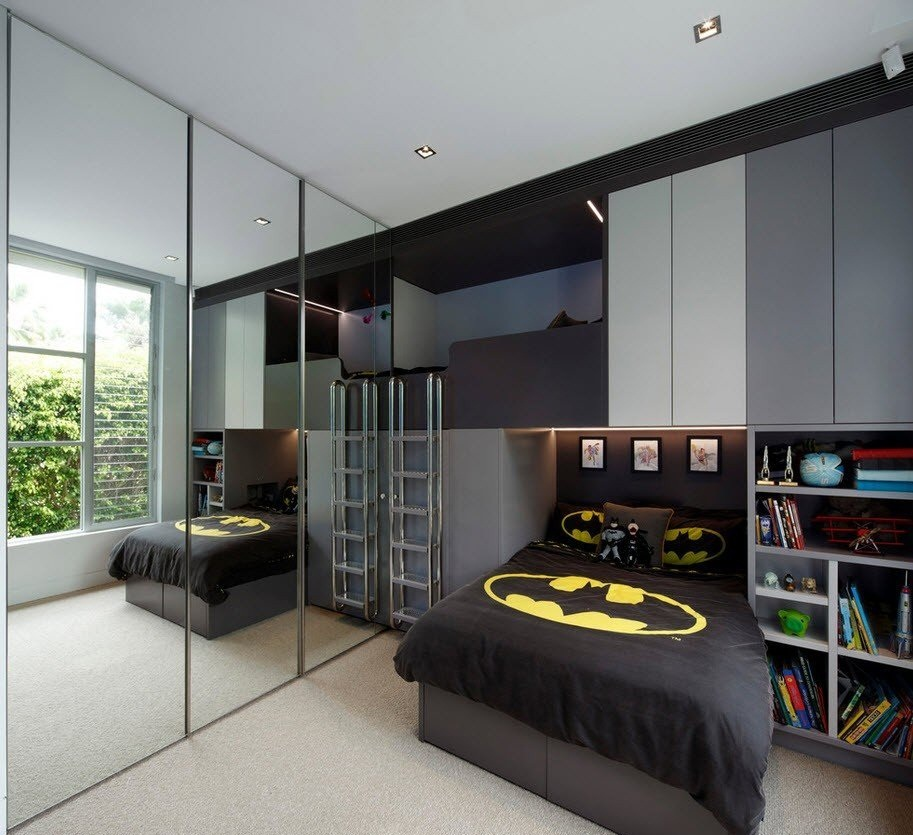 Комната для подростка в духе Бэтмена